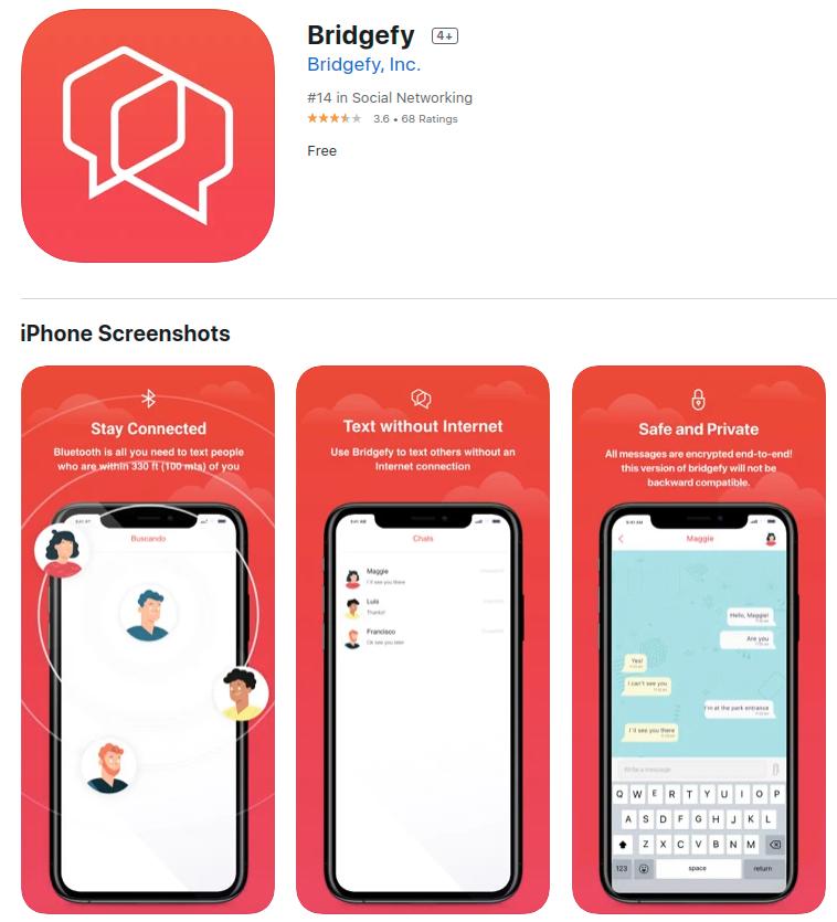 bridgefy app store